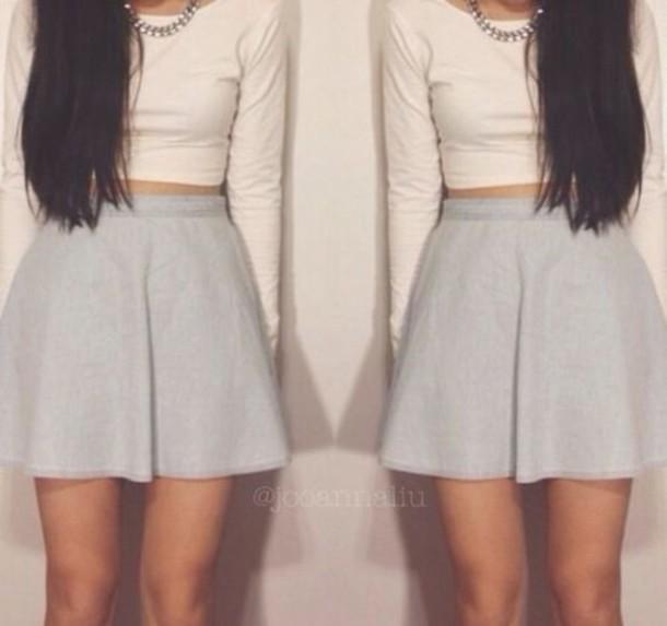 Skirt outfits tumblr