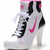 white pink black dunk sb mid heels womens