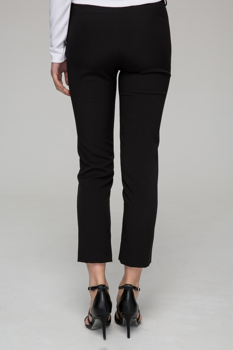 Skinny trousers with side split