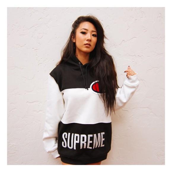 black sweater style white top fashion girly