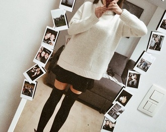 sweater shirt blouse turtleneck oversized turtleneck sweater white sweater white shirt loose fit sweater loose knitted sweater knitted cardigan jumper