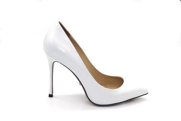 4 Inch White Heels