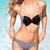 Bow Fashion Color Block Halter Top Bikinis : KissChic.com