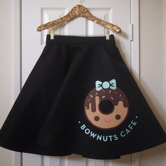 bag black skirt the donut