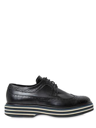 shoes lace-up shoes lace leather black