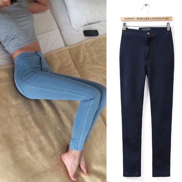 Aliexpress.com : Buy Skinny Jeans Woman Plain Hight Waist Jeans Women Stretch Waist Slim Pencil Pants Jeans Femme Jean Taille Haute from Reliable jeans male suppliers on Fashion Sunlight
