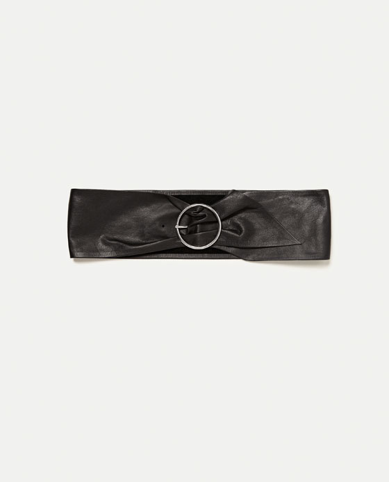WIDE LEATHER BELT - Belts-ACCESSORIES-WOMAN | ZARA United States