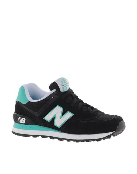 shoes sneakersakers new balance 574 black & green