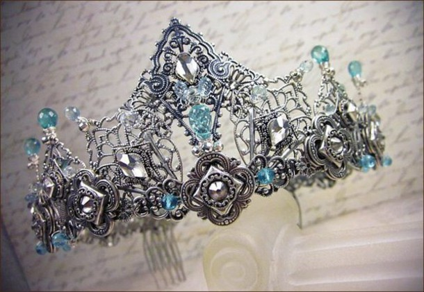 jewels crown blue queen blue wedding accessory