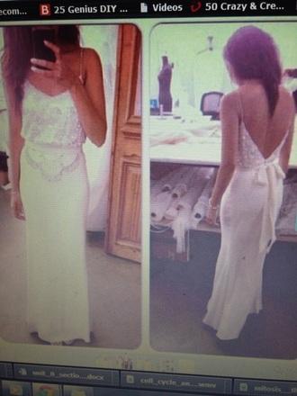 dress prom white prom dress pretty prom dress open back formal