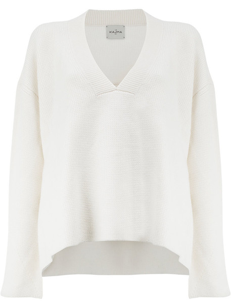 sweater high women white