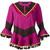 Rossella Jardini - tassel trim top - women - Silk/Cotton - 42, Pink/Purple, Silk/Cotton