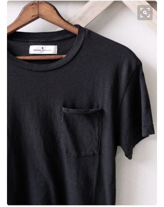 t-shirt black pockets comfy pocket t-shirt comfy black tee