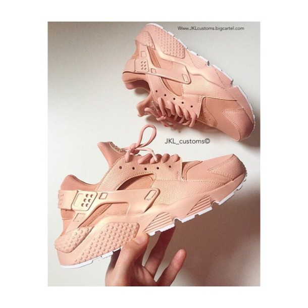 ... Nike Huarache Pink And Gold shoes 1bc048334