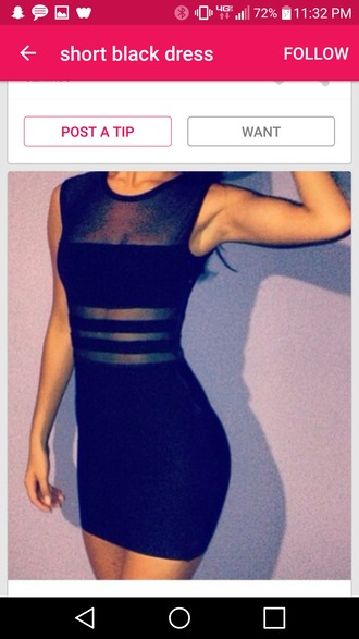 dress black tight short dress