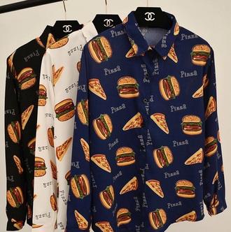 skirt burger shirt