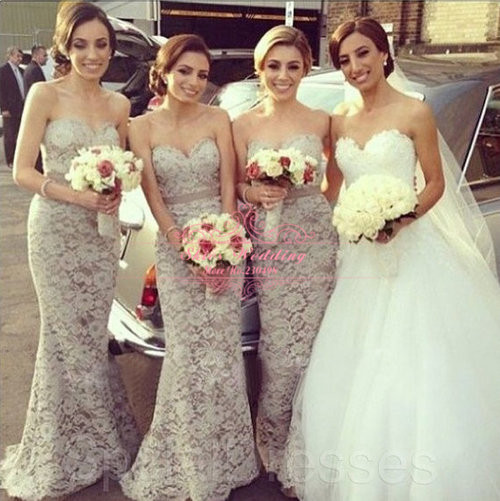 More detailed picture about 2014 zipper back custom made sweetheart lace mermaid bridesmaid dresseses picture in bridesmaid dresses from skies wedding dress