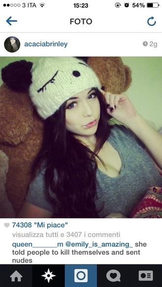 hat panda hat acacia brinley
