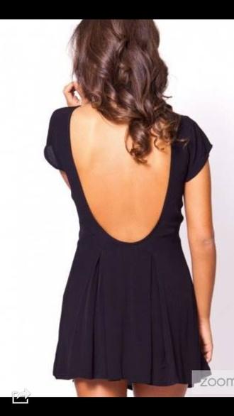 little black dress low back dress low back