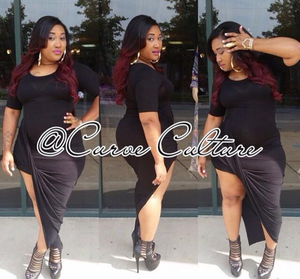 Plus Size Plus Size Dress Dress Little Black Dress Bodycon Dress