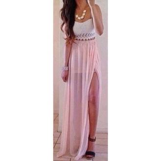 skirt lace open skirt pink skirt tank top shirt top