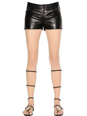shorts leather shorts leather black