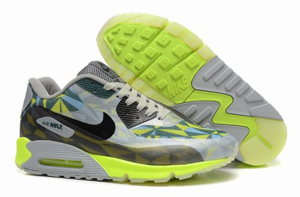 Mens Nike Air Max 90 Ice Running Trainers Greem Yellow