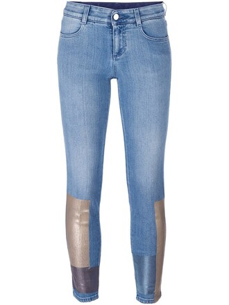 jeans women spandex boyfriend cotton blue