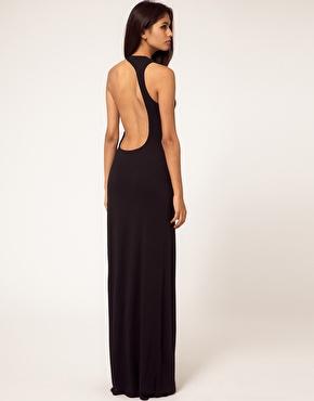 aqua aqua starbright maxi robe dos nu asym trique chez asos. Black Bedroom Furniture Sets. Home Design Ideas