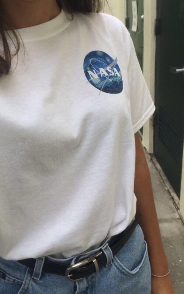 Shirt Nasa Girl Vogue Retro Tumblr Grunge Love Aesthetic Tumblr - Wheretoget