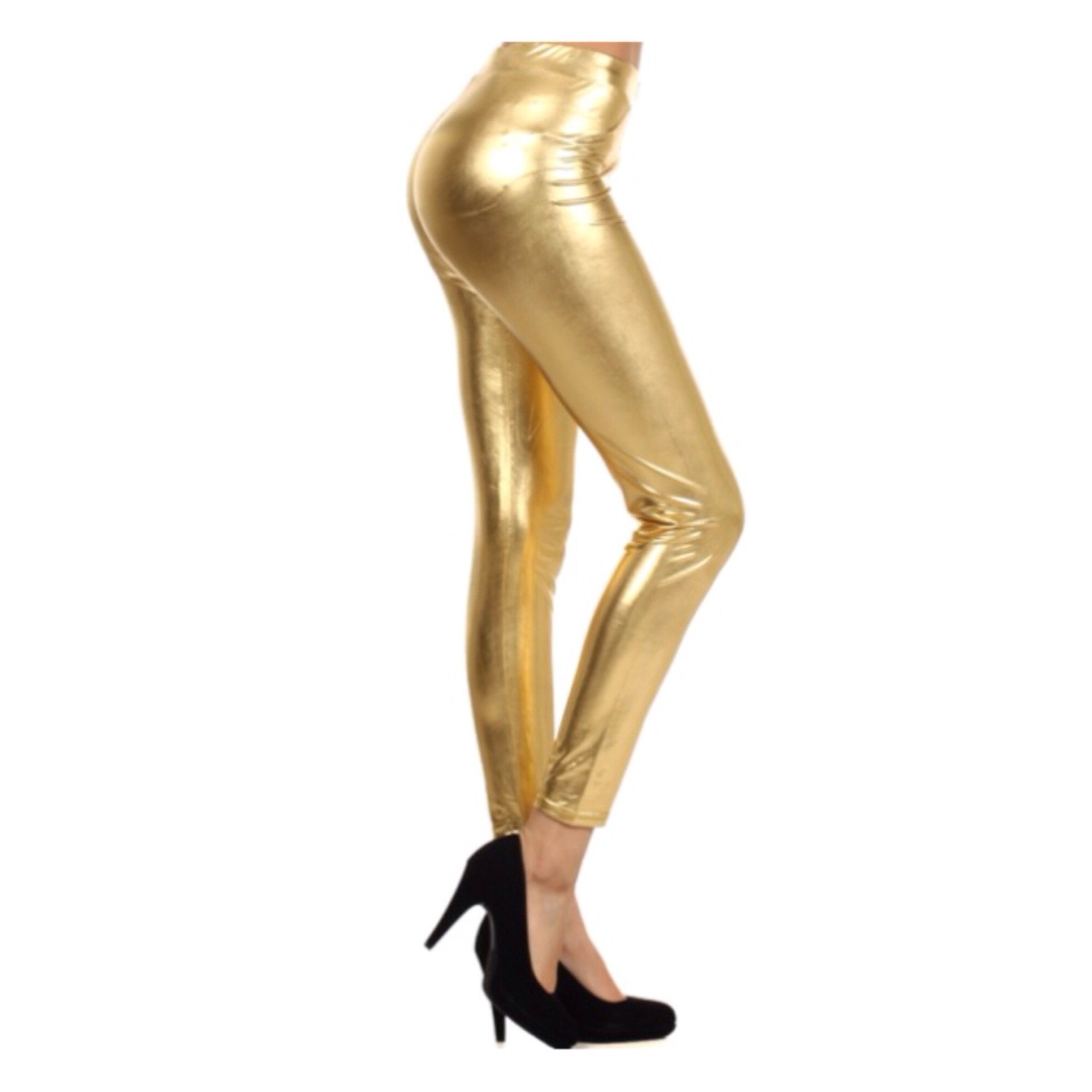 In StyleLong Metalic Gold Leggings