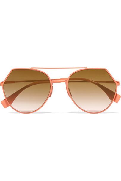 Fendi metal style sunglasses peach
