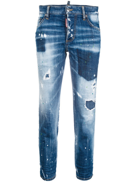 Dsquared2 jeans boyfriend jeans women spandex boyfriend cotton blue