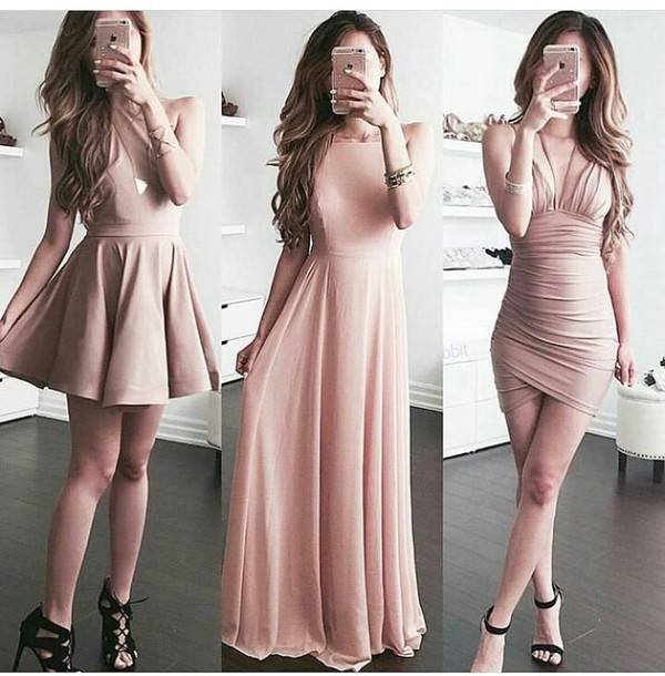 Dress: summer dress, cute dress, short dress, party dress, pink ...