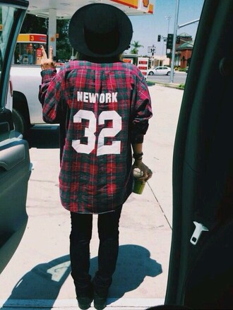 shirt flannel shirt flannel 32 new york city swag style hot stylish cool