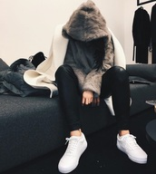 sweater,fur,fuzzy sweater,sweatshirt,shoes,white,white shoes,jacket,faux fur jacket,hoodie,kylie jenner,faux fur,pullover,fur hoodie