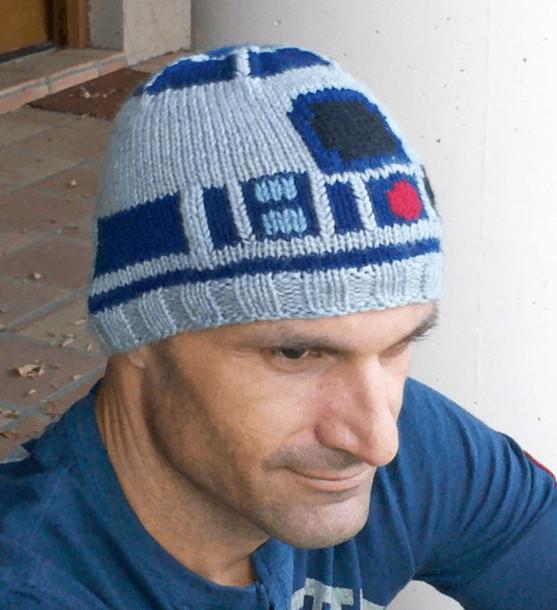 hat nerd beanie tuque star wars r2d2 homemade 7cf357b22f6