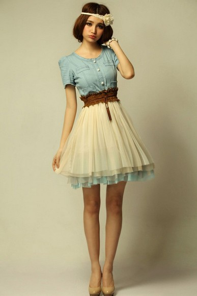 dress vintage vintage clothes denim romantic cute cute bikini hat shoes