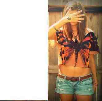 butterfly top blouse