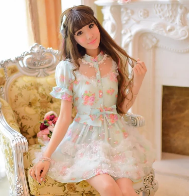 Japanese Princess Sweet Bowknot Tutu Dress 183 Fashion