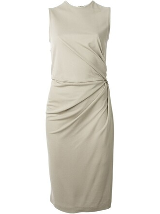 dress sleeveless nude
