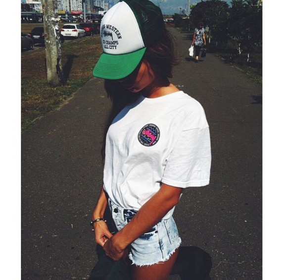 hat green white