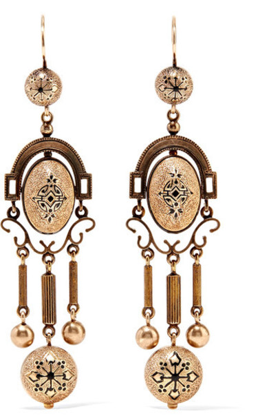 Fred Leighton earrings gold jewels