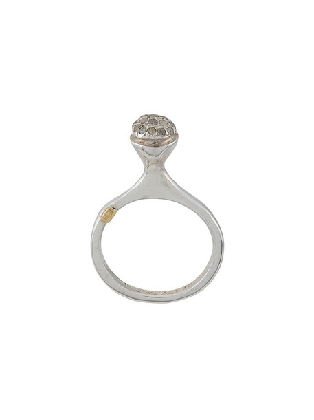 Rosa Maria women ring silver grey jewels
