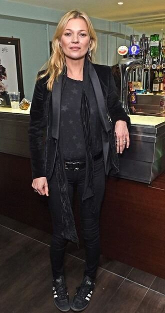 top stars kate moss blazer all black everything fall outfits