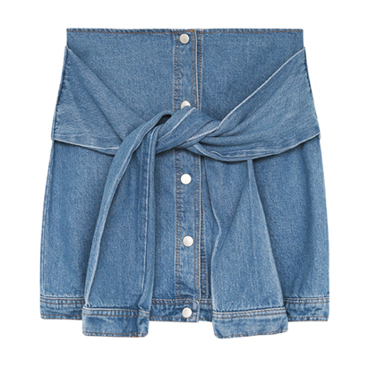Denim shirt skirt / back order – holypink