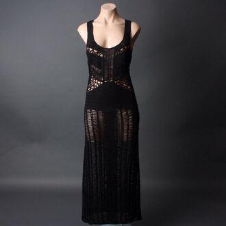dress crochet maxi dress swim cover up mesh sheer