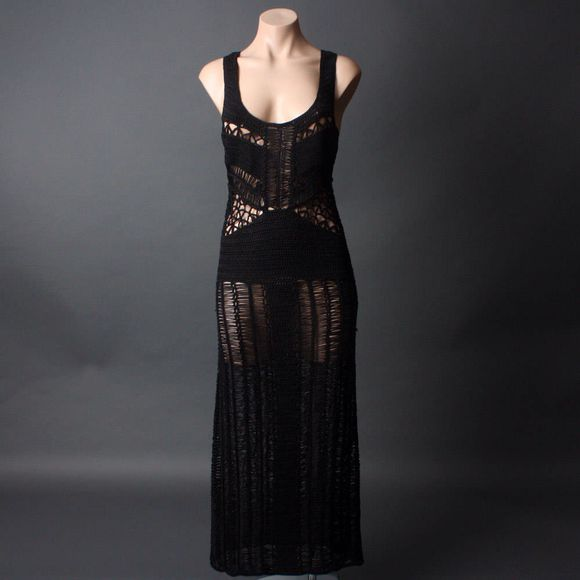 dress crochet maxi dress dress, swim, cover up, mesh, sheer