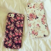 phone cover,floral,white,iphone case