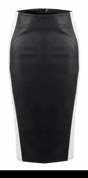 skirt leather black skirt black leather look look
